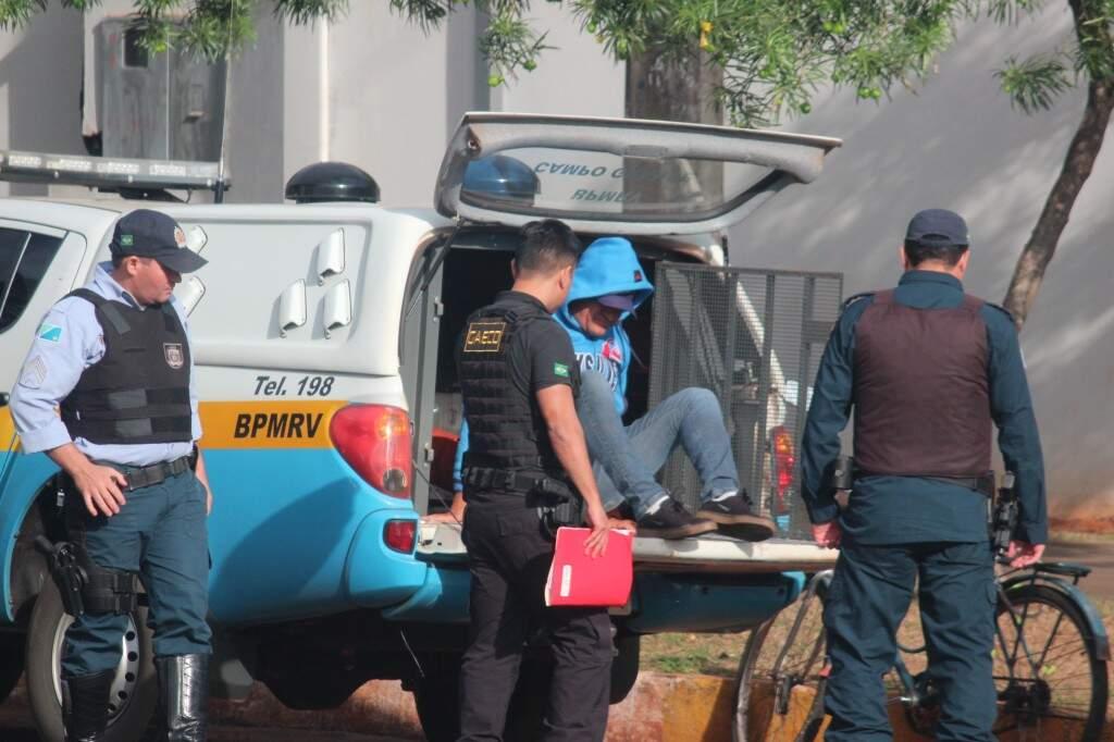 """o empresário Ademir Naide, o """"Gago"""", preso durante a operação Mudra (Foto: Jornal da Nova)"""