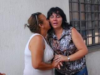 Roseli e Maria se reencontraram hoje à tarde.