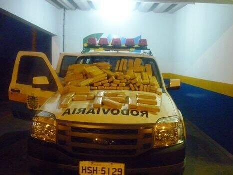 Droga estava camuflada no interior do carro, segundo Polícia Militar Rodoviária