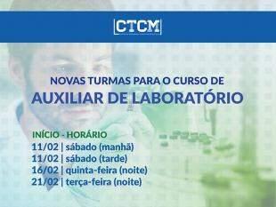 CTCM abre cursos para Auxiliar de Laboratório