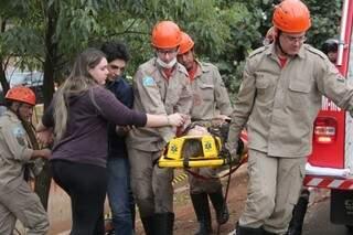 Filha acompanhou o resgate de Joana (Foto: Marcos Ermínio)