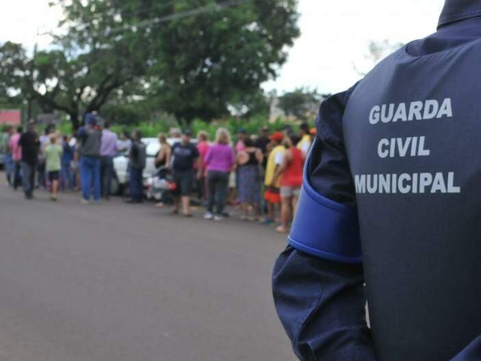 Guarda Municipal foi acionada, mas não houve confusão (Foto: Alcides Neto)