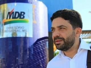Presidente do MDB da Capital, Ulisses Rocha, concede entrevista na sede do partido hoje. (Foto: Marina Pacheco).
