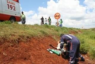 O indígena foi atingido enquanto seguia de bicicleta para casa. (Foto:Dourados News)