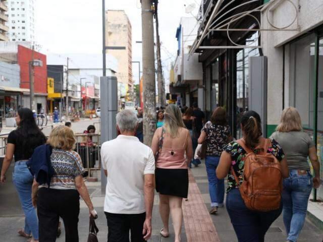 Comércio de Campo Grande está liberado para abrir durante o feriado prolongado. (Foto: Paulo Francis)