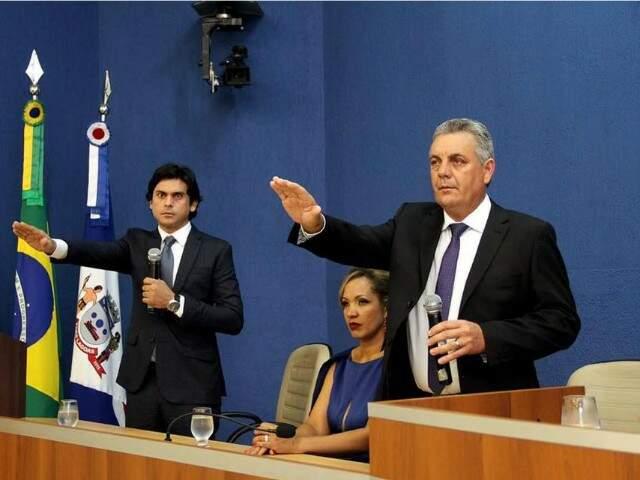 Angelo Guerreiro tomou posse na madrugada, logo após a virada do ano (Foto: divulgação)