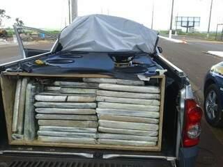 Droga estava escondida na carroceria de Montana (foto: divulgação)