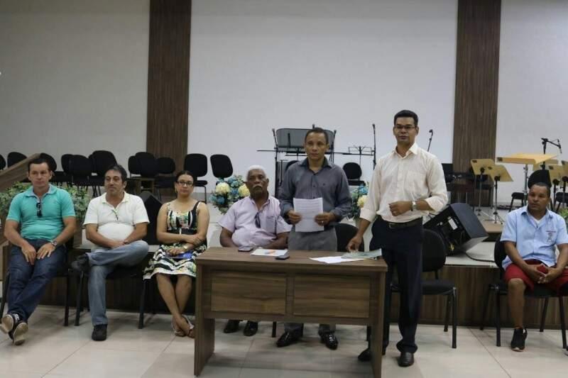 O atual presidente da igreja, pastor Jânio Faustino, quer a instituição longe da imagem de Gilmar Olarte (Foto: Assessoria)