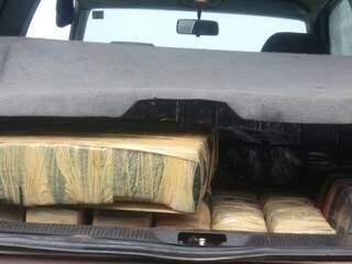 Ontem, foram apreendidos 84 quilos de cocaína.(Foto: divulgação/PF)