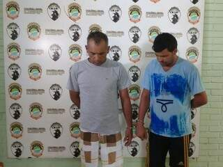 Adilson Teixeira Alecrim, 40 anos, Jamil Ferreira Abranches, 34 anos, continuam presos; terceiro foi ouvido e liberado. (Foto: Adriano Fernandes)