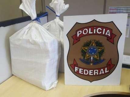 PF apreende 30 quilos de droga em mala de mulher no aeroporto da Capital