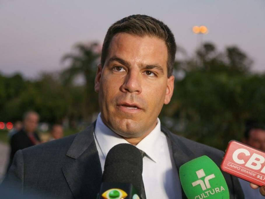 Renan Contar, deputado estadual mais votado em MS, durante entrevista na diplomação dos eleitos, em 14 de dezembro de 2018. (Foto: Paulo Francis/Arquivo).
