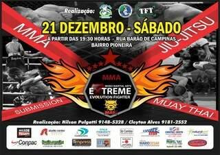 Evento terá dez lutas de três modalidades (foto: divulgação)