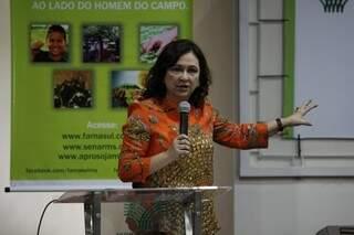 Senadora do Tocantis cumpriu agenda em Campo Grande (Foto: Cleber Gellio)