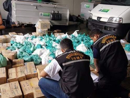 Fiscais constataram R$ 216 mil em mercadorias irregulares.(Foto: Divulgação/ Sefaz)