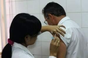 Em Campo Grande, imunização prossegue nos postos de saúde. (Foto:Divulgação)