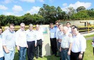 Solenidade de inauguração da estação de tratamento em Dourados (Foto: divulgação)