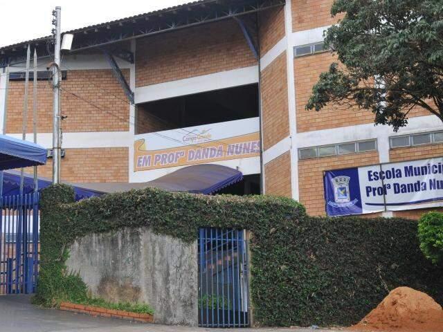 Escola Municipal Danda Nunes, em Campo Grande. (Foto: Alcides Neto)