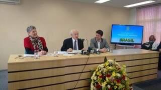 Ministro falou em coletiva nesta manhã. (Foto: Viviane Oliveira)