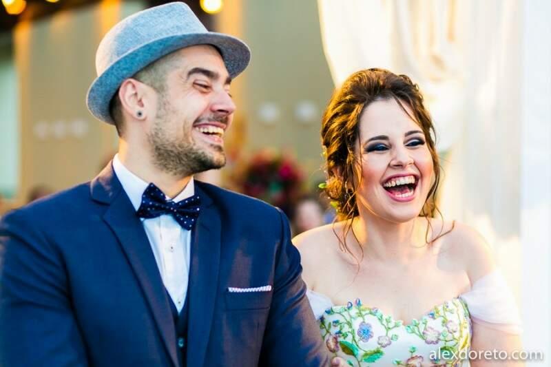 Bem como os sorrisos de Laís e André Luís. (Foto: Alex Doreto)