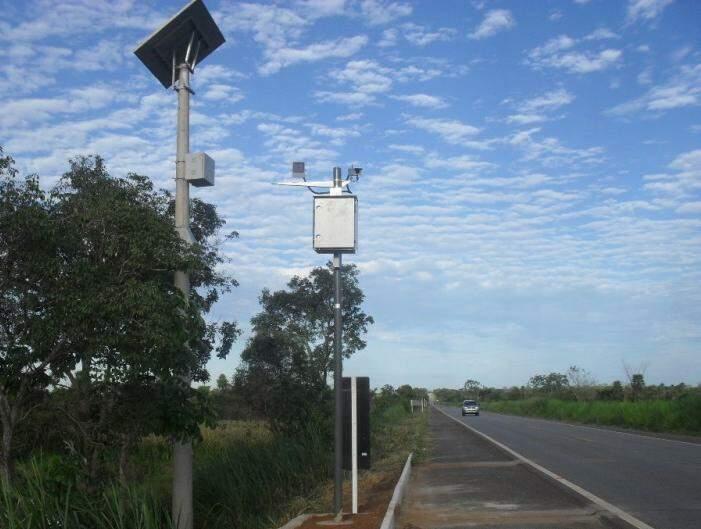 Os seis novos radares foram instalados na BR-262 entre Terenos e a ponte do rio Paraguai. (Foto: Divulgação)