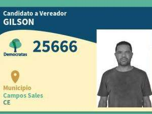 Gilson foi candidato a vereador por Campos Sales (CE) (Foto/Reprodução)