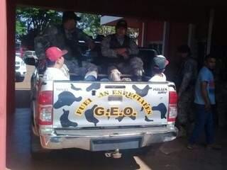 Membros do PCC foram levados para presídio (Foto: ABC Color)