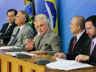 Presidente anuncia pacote de medidas em coletiva nesta quinta (Foto: divulgação / Palácio do Planalto)