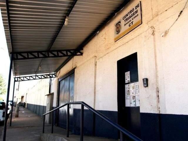 Entrada do Centro de Triagem, onde estão presos provisórios da Lama Asfáltica; detentos de MS não terão seções eleitorais neste ano. (Foto: Arquivo)