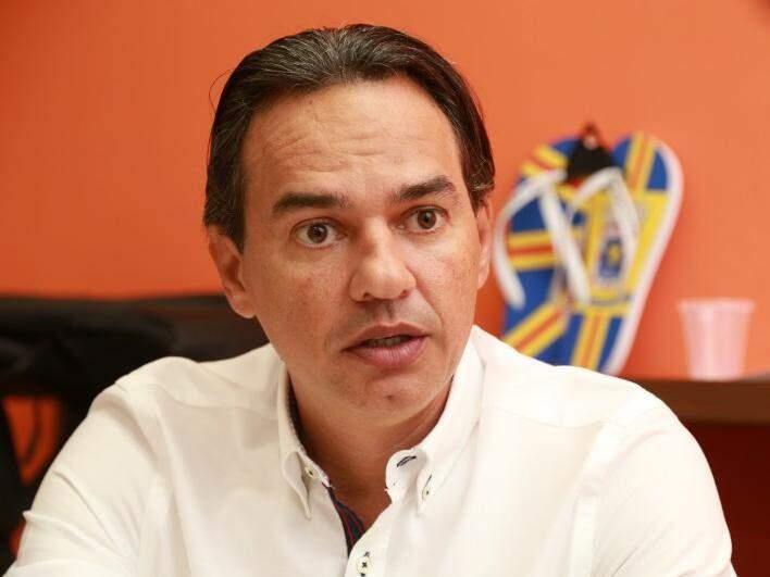 Prefeito Marquinhos Trad, em seu gabinete na Assembleia (Foto: Marcos Ermínio)