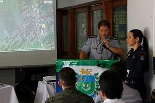 O coronel da PM, Evaldo Mazuy, apresentou o plano de segurança para o fim do ano (Foto: Cléber Gellio)