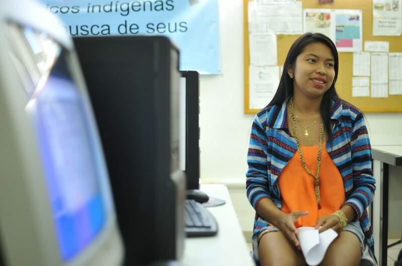 Universitários indígenas buscam curso superior para ajudar comunidades (Foto: Alcides Neto)