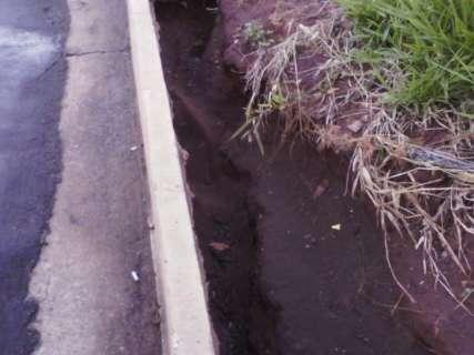 Buraco coberto por camada fina de asfalto representa perigo a motoristas