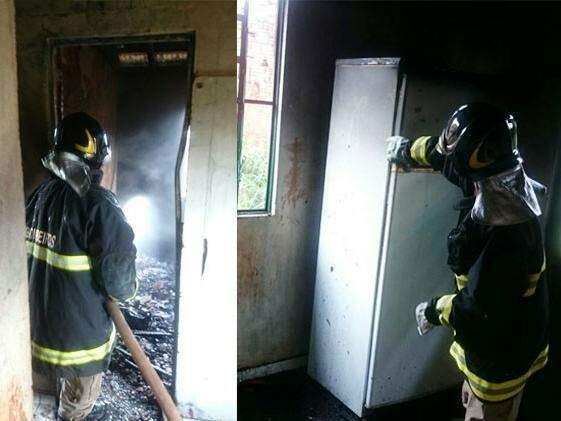 Incêndio começou em colchões (Foto: Fátima News)
