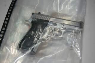 Arma usada para matar Juvenil foi apreendida pela Polícia. (Foto: Simão Nogueira)