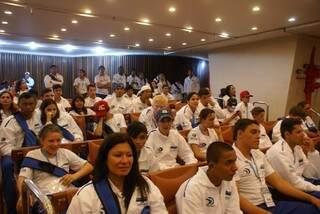 Auditório com a delegação de MS