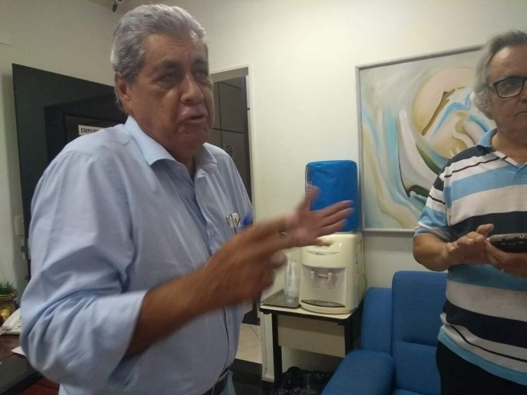 André Puccinelli durante reunião executiva do MDB (Foto: Aline dos Santos)