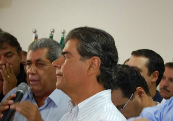 Governador disse que não tem plano A ou B e Trad será o candidato ao Governo do Estado(Foto: Wendell Reis)