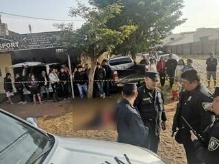Local onde paraguaio foi morto em agosto do ano passado, em Pedro Juan Caballero (Foto: Léo Veras/Porã News)