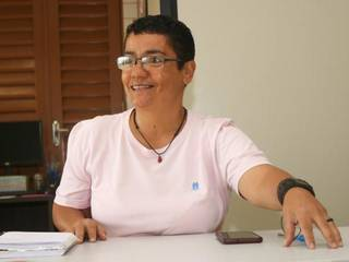 A servidora pública estadual e fundadora do Coletivo Povo de Axé Miriam Pereira ressalta que a negra lésbica tem sobre as costas o acúmulo de opressão. (Foto: Silas Lima)