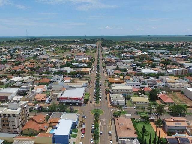 Chapadão do Sul, distante 321 quilômetros de Campo Grande, vista do alto (Foto: divulgação/assessoria)