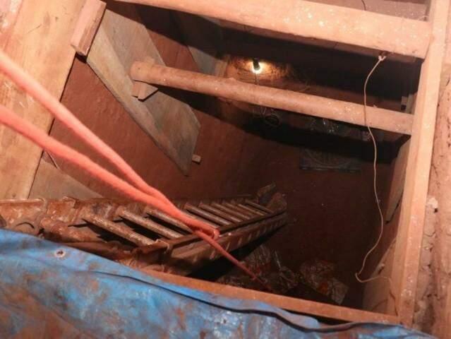 Túnel tinha 6 metros de profundidade (Foto/Arquivo: Henrique Kawaminami)