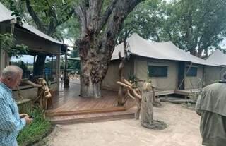 Um exemplo de 'lodge hostel' usado pela equipe (Foto: Arquivo Pessoal)