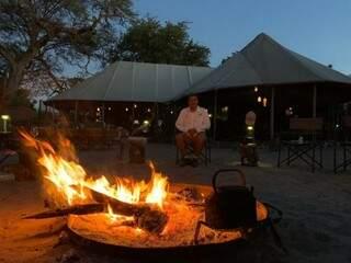 Angelo Rabelo durante estadia em Botswana (Foto: Arquivo Pessoal)
