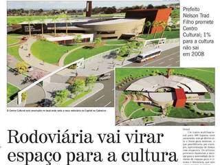 Capa da primeira matéria escrita sobre o Centro de Belas Artes, em 2007 (Foto: Jornal O Estado de Mato Grosso do Sul)