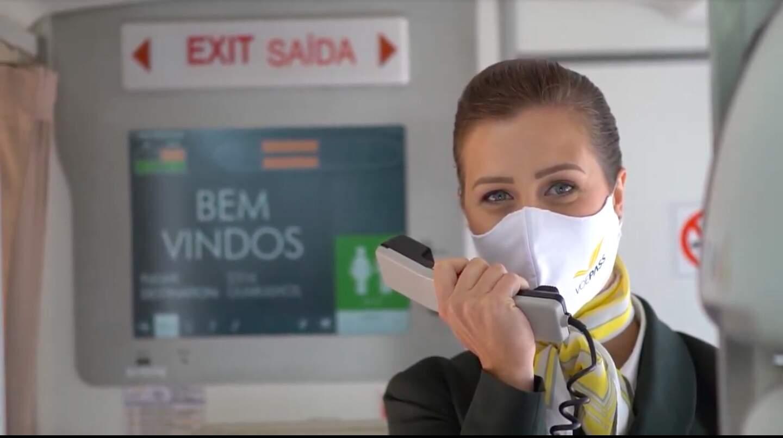 A companhia anunciou procedimentos adicionais para garantir proteção contra o coronavírus (Foto: VoePass/Divulgação)