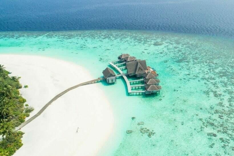 Praia paradisíca nas Maldivas, país tropical no Oceano Índico é uma bela opção para os brasileiros (Foto: Divulgação)