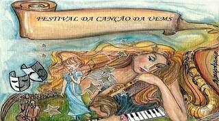 Arte de divulgação do IV Festival da Canção da Universidade Estadual de Mato Grosso do Sul (Foto: Divulgação)