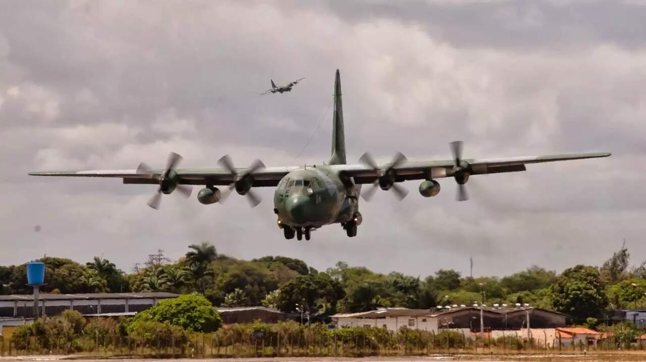 """Imagem mostra """"Hércules"""", como é chamada a Aeronave modelo Hércules C-130, da Força Aérea Brasileira (Foto: Divulgação/FAB)"""