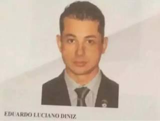Eduardo Luciano Diniz está preso desde julho 15 de julho de 2019 e já foi condenado (Foto/Reprodução)